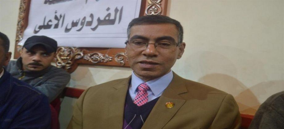 مندوب الرئاسة المزيف فى عزاء عمر عبد الرحمن