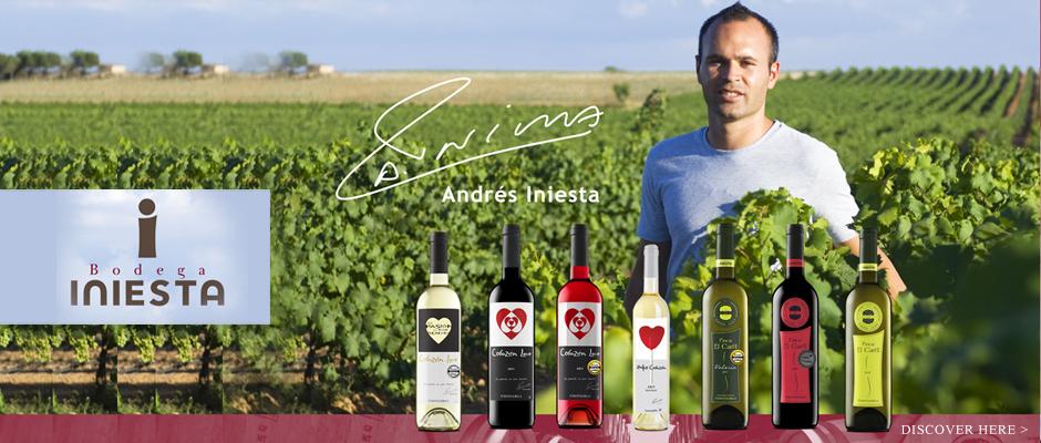 إنيستا مع منتج النبيذ الخاص بشركته