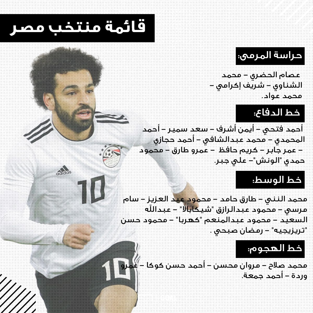 القائمة الأولية لمنتخب مصر