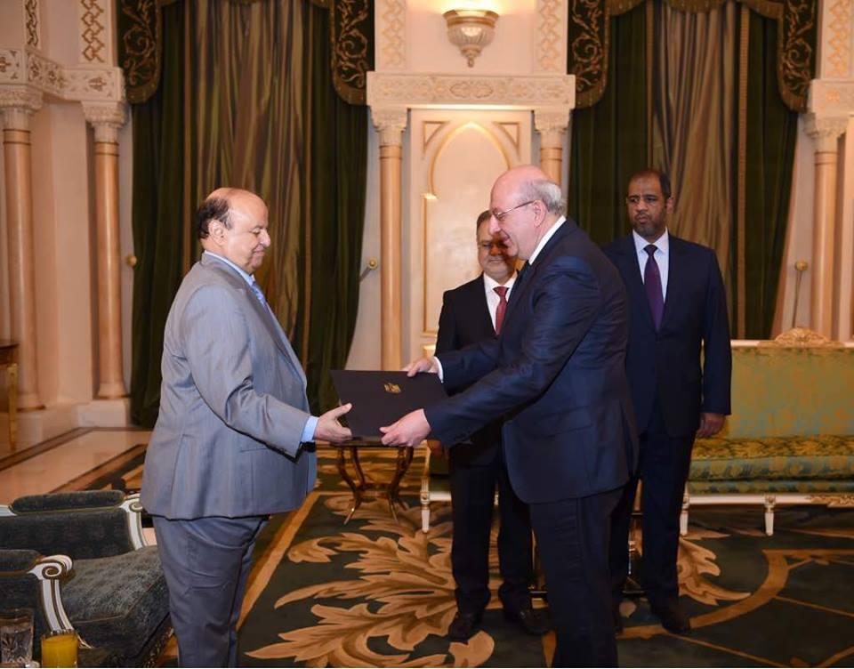 سفير مصر يعتمد أوراقه فى اليمن