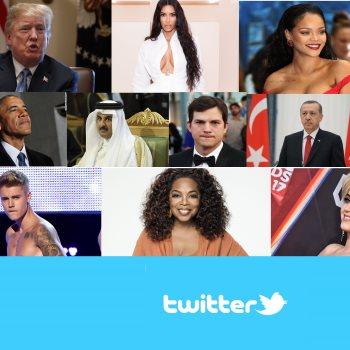 المشاهير على تويتر