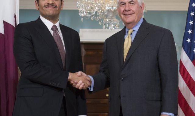 تيرلسون مع وزير خارجية قطر