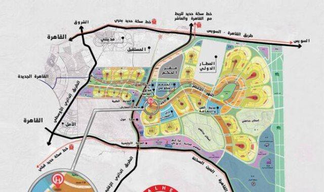 مخطط العاصمة الادارية الجديدة pdf
