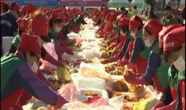 مهرجان خيرى بكوريا الجنوبية لتوزيع 150 طن طعام على الفقراء