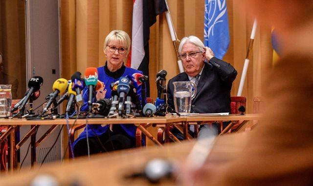 فى مباحثات السلام حول اليمن فى السويد