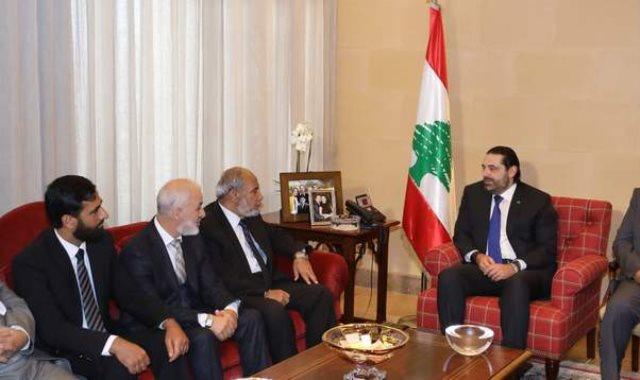 سعد الحريرى ووفدًا برلمانيًا فلسطينيا