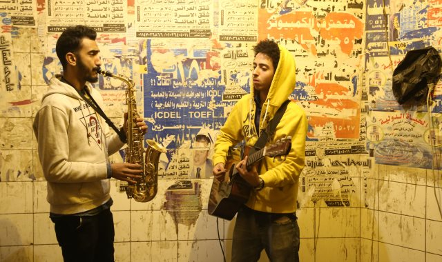 الموسيقى فى أنفاق المترو