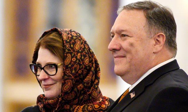 سوزان بومبيو وزوجها وزير الخارجية الأمريكى