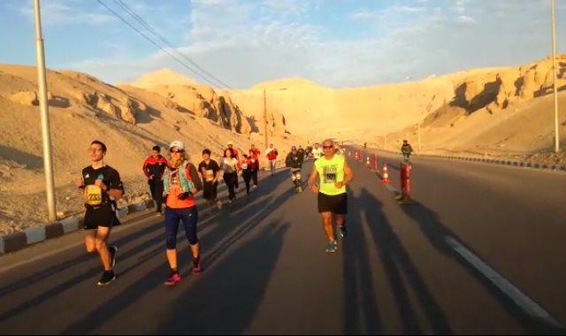 ماراثون مصر الدولي من أمام معبد حتشبسوت