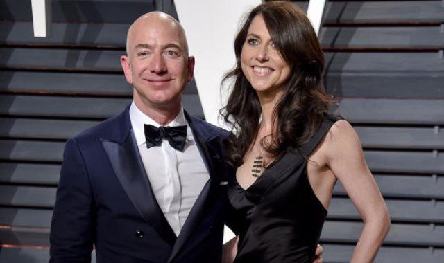الملياردير جيف بيزوس مؤسس شركة أمازون  و زوجته ماكينزى بيزوس