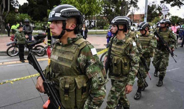 قوات الأمن فى كولومبيا