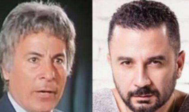 الفنان أحمد سعيد عبد الغنى ووالده