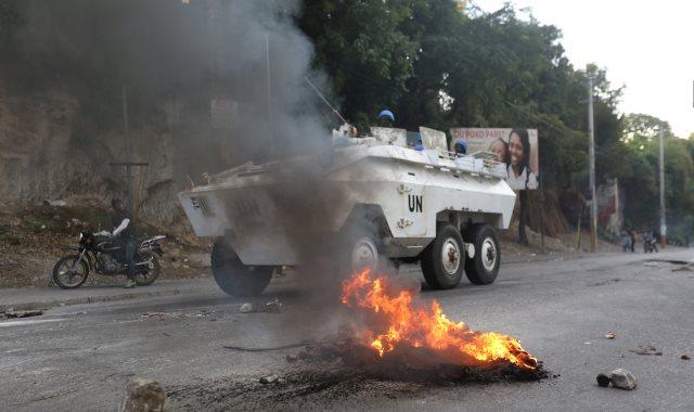 الاحتجاجات العنيفة ضد السلطة فى هايتى