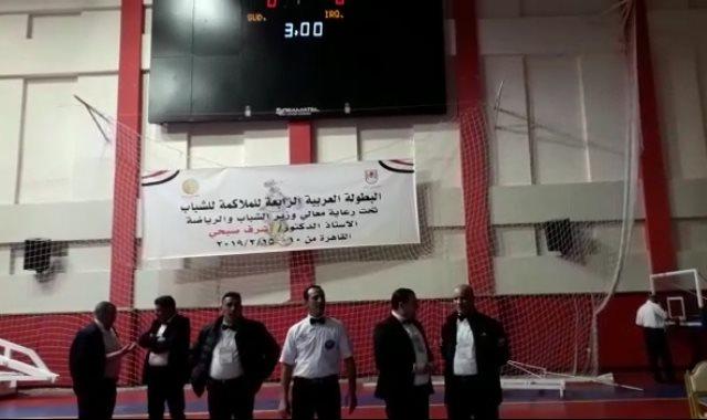 البطولة العربية للملاكمة بالمركز الأوليمبى