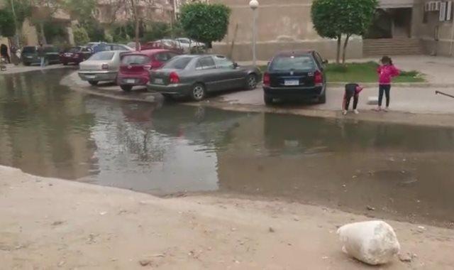 انتشار مياه الصرف الصحى  بالمنطقة
