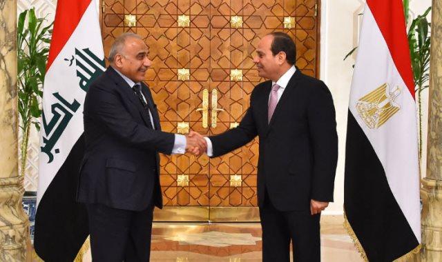 الرئيس السيسى ورئيس وزراء العراق