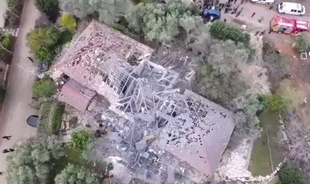 المنزل الإسرائيلي المستهدف بصواريخ من قطاع غزة