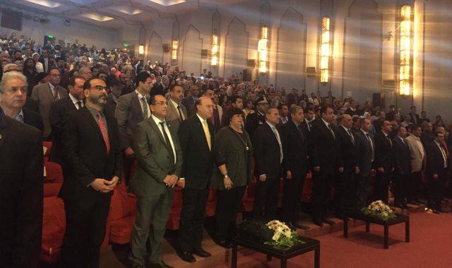 وزيرة الثقافة ومحافظ الإسماعيلية والفريق مميش