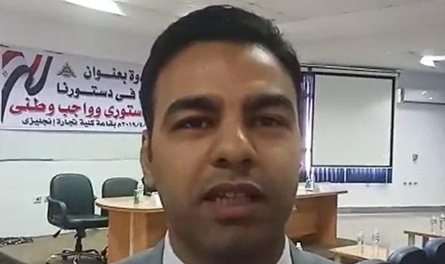عمرو درويش عضو تنسيقية شباب الأحزاب
