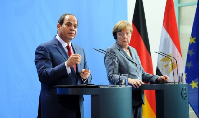 الرئيس السيسي والمستشارة الألمانية ميركل
