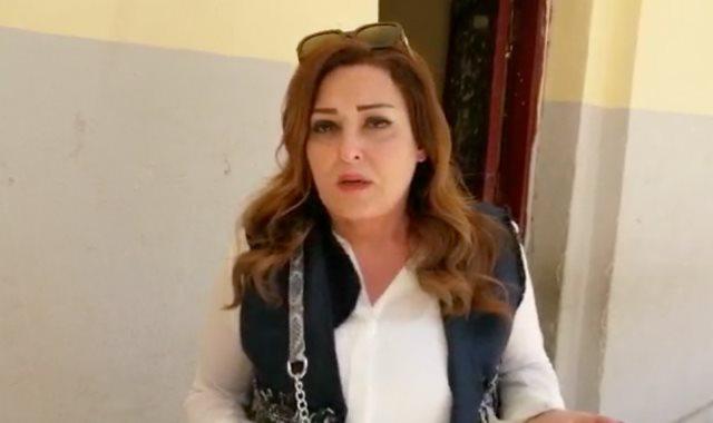 رسالة نهال عنبر للمصريين  بعد الادلاء بصوتها بالتعديلات الدستورية