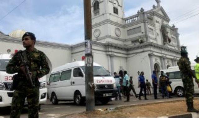موقع التفجير فى سريلانكا