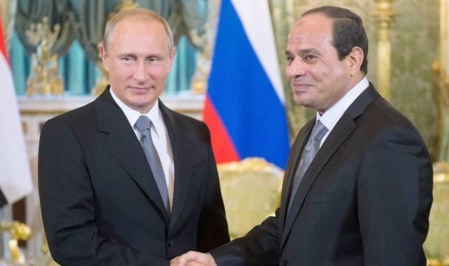 الرئيس السيسى ونظيره الروسى
