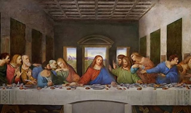 لوحة العشاء الأخير لدافنشي