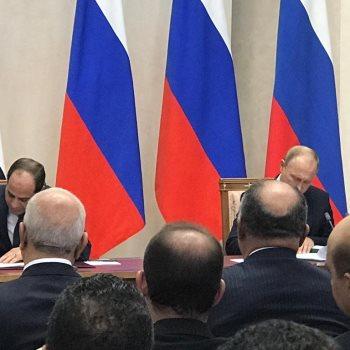 الرئيس السيسى ونظيره الروسى يوقعان على اتفاقية الشراكة الشاملة