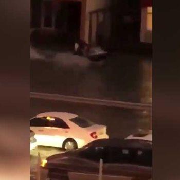 اثار الامطار فى الكويت