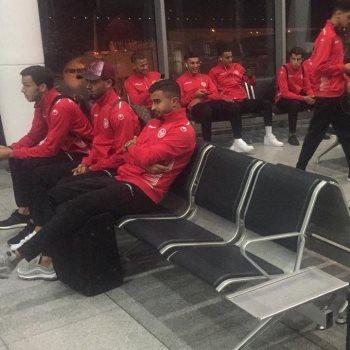 وصول منتخب تونس
