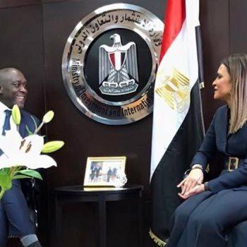 سحر نصر خلال اجتماعها مع نائب رئيس البنك الدولي