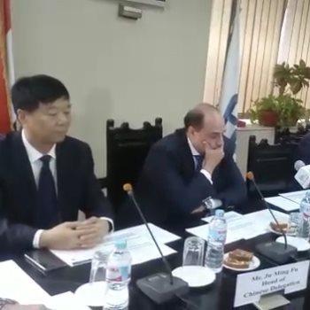 وفد صيني ندرس شراكة مصر فى قطاع النقل واللوجيستيات