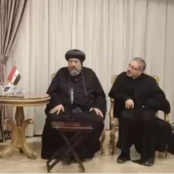 الأنبا إرميا يهنئ مجلس ثريا بشعلانى على منصبها بمجلس كنائس الشرق الأوسط