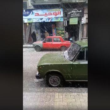 تساقط الثلج فى الإسكندرية