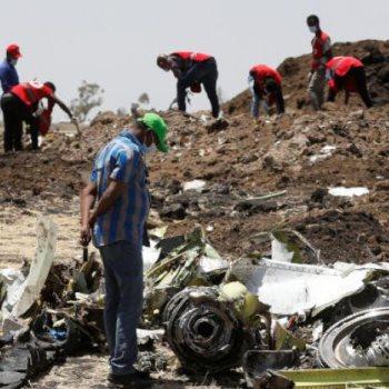 اثار حطام الطائرة الاثيوبية