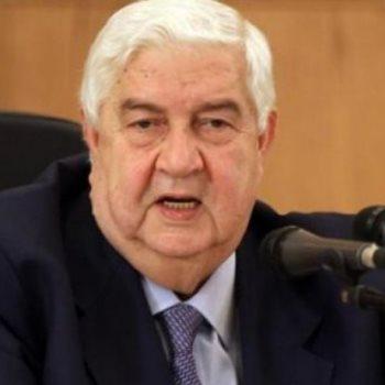وليد المعلم وزير الخارجية السورى
