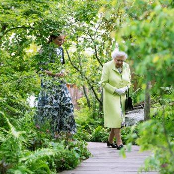 الملكة إليزابيث فى معرض تشيلسى للزهور مع كيت ميدلتو