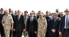 السيسي يتقدم جنازة الفريق صفي الدين ابو شناق