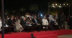 إيناس عبد الدايم وزير الثقافة خلال حضور الحفل