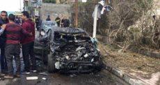 حادث تصادم سيارتين بكفر الدوار