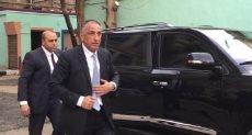 طارق عامر خلال وصوله اللجنة الانتخابية بالزمالك