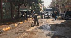 حملة نظافة حول اللجان الانتخابية فى شوارع امبابة