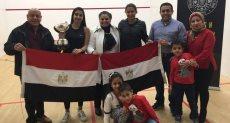 سفارة مصر تحتفى بفوز روان العربى ببطولة الإسكواش