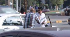 خناقة بين سائق تاكسي وراكب خليجي