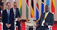 الرئيس السيسي ونظيره الأوغندي