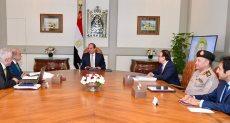 اجتماع الرئيس عبد الفتاح السيسي اليوم السبت
