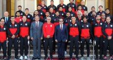 الرئيس السيسي يستقبل منتخب مصر عقب التأهل لكأس العالم