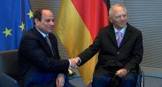 السيسى يعقد جلسة مباحثات مع رئيس البرلمان الألمانى