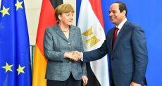 الرئيس السيسي وميركل - أرشيفية